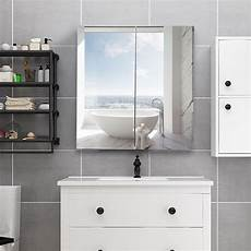24 quot wide wall mount mirrored medicine storage cabinet