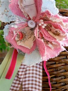 fabric junque flower make as curtain tie back for shabby