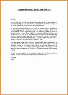 Sample Maternity Letter Application Letter For Maternity Leave Maternity Leave