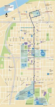 Power And Light District Map The Kc Streetcar Route Kansas City S Modern Transit Option