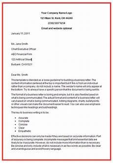 Letters Format Business Letter Formats All Docs