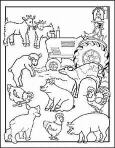tiere auf dem bauernhof malvorlagen