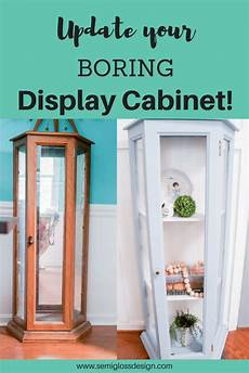 painted curio cabinet update your boring display cabinet