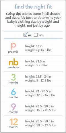 Carters 6m Size Chart Carter S Size Chart Kid Clothes Sizes Pinterest Charts