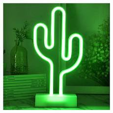 Led Cactus Lights Yiiy Cactus Led Neon Light Indoor Figurine Lamps With