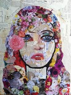 arte de colagem mixed media colagem de revista arte inspo e arte