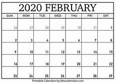 Free Calendar Template February 2020 Printable February 2020 Calendar Beta Calendars