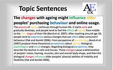 Examples Of Topic Sentences For An Essay How To Write A Good Topic Sentence In Academic Writing