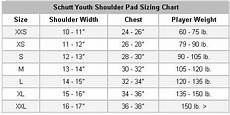 Ccm Shoulder Pads Size Chart Schutt Youth Shoulder Pads