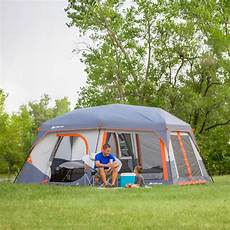 camping tent with built in lights ozark trail 14 x 10 x 78 quot instant cabin tent with light
