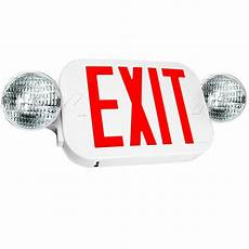 Location Exit Light Combo Led Exit Sign Amp Emergency Lighting High Output Red