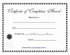 Blank Certificate Of Completion Template 38 Completion Certificate Templates Free Word Pdf Psd