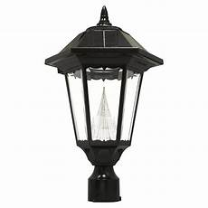 Led Outdoor Post Light Fixtures Gama Sonic Windsor 150 Lumen 20 In Black Traditional Post
