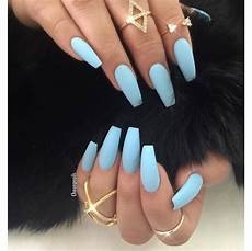 Light Blue Nails Coffin Matted Sky Blue Nails Blue Acrylic Nails Coffin Nails