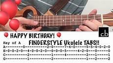 Happy Birthday Ukulele Chords Happy Birthday In 5 Keys Fingerstyle Ukulele Tutorial