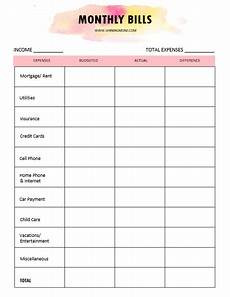 Budget Monthly Bills Monthly Budget Template 30 Free Sheets To Use Outright