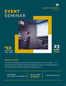Design Flyers Templates Online Free Free Seminar Flyer Template In Adobe Photoshop Microsoft