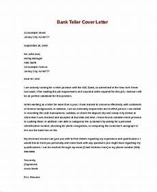 Cover Letter For Teller Position Sample Cover Letters For Job 9 Examples In Word Pdf