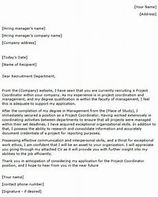 Cover Letter For Project Coordinator Position Project Coordinator Cover Letter Example Lettercv Com