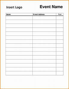 Blank Sign In Sheet Template 12 13 Vendor Sign In Sheet Template Lascazuelasphilly Com