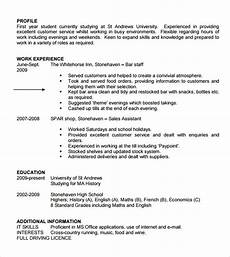Free Cv Template For Students Free 9 Sample Student Cv Templates In Pdf Ms Word