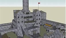 Castle Keep Design Medieval Castle Teuton Style