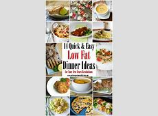 14 Quick & Easy Low Fat Dinner Ideas for your New Years