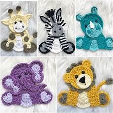 crochet applique crochet pattern instant pdf zoo animals crochet