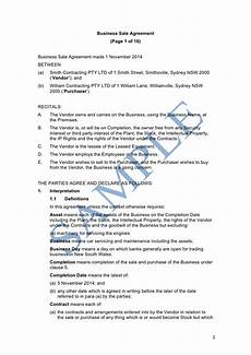 Business Contracts Samples Business Sale Agreement Sample Lawpath