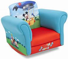 disney upholstered child s mickey mouse rocking chair