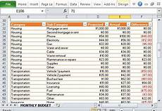 Office Expense Categories Monthly Family Budget Template For Excel