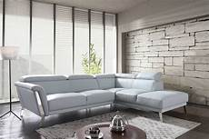 Blue Sectional Sofa 3d Image by Divani Casa Tatum Modern Blue Leather Sectional Sofa