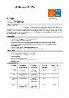 Resume Format Of Fresher Fresher Resume