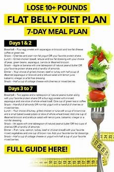 7 day flat belly diet plan for lose 10 pounds