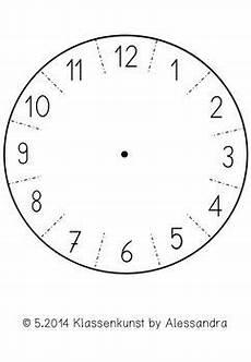 Malvorlage Uhr Ohne Zeiger Bastelvorlage Uhr Clock Template Clock Learning For