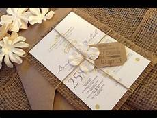 Burlap Wedding Invitations Burlap Wedding Invitations Youtube