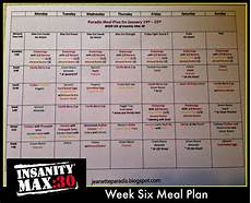 Insanity Food Plan Kitchen Window Insanity Max 30 Meal Plan Week 6 Recipes