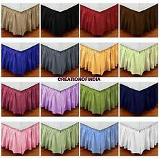 drop expanded size dust ruffle bed skirt