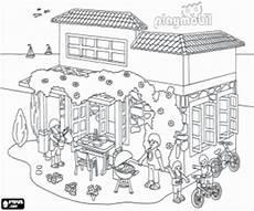 Malvorlagen Bauernhof Roblox La Casa De Playmobil En Verano Para Colorear Pintar E