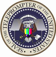 Latin Wording The Official Seal Of The Teleprompter Of The United States