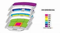 Okc Civic Center Seating Chart Oklahoma City Civic Center Music Hall Seating Chart