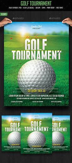 Golf Outing Flyers Golf Tournament Flyer By Creativeartx Graphicriver