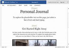 Journal Word Personal Journal Template For Word Online