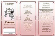 contoh surat undangan pernikahan bahasa indonesia kata