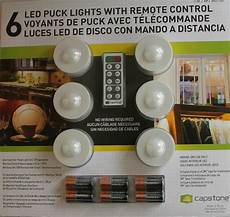 Capstone Led Puck Lights 6 Pack With Remote Control 6 X Wireless Puck Led Lights Under Cabinet With Remote
