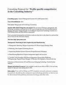 Management Consulting Proposal Sample Consulting Proposal