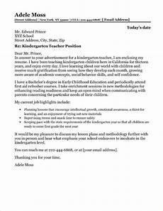 Cover Letter For Kindergarten Teacher School Counselor Cover Letter Sample