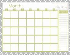 Printable Blank Calendar Printables Archives The Frugal Fairy
