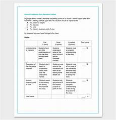 childrens story template story outline template 15 for word and pdf format