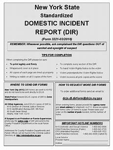 Domestic Incident Report Redesigned New York State Domestic Incident Report